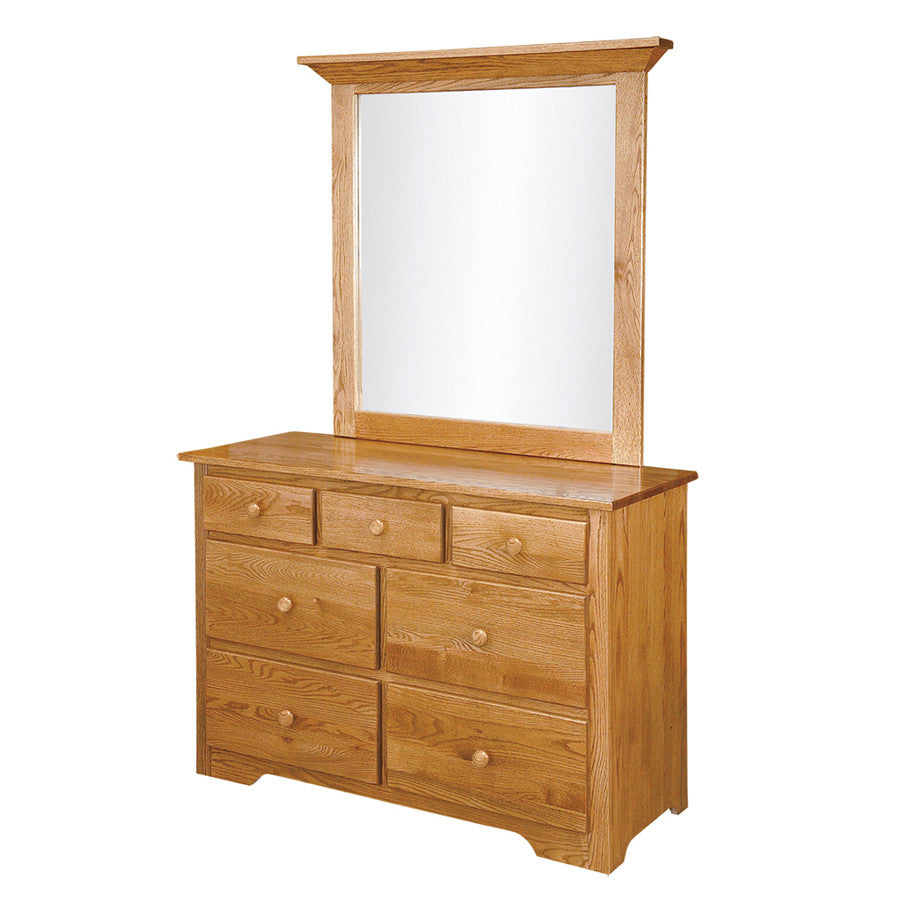 Shaker Single Dresser with Mirror (OCH #4-SH + #197)