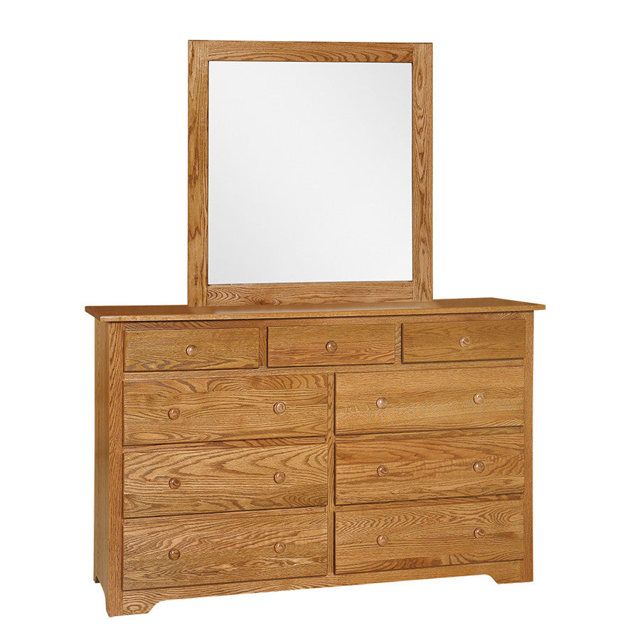 Shaker Mule Chest Dresser with Mirror (OCH #301-SH + #53)