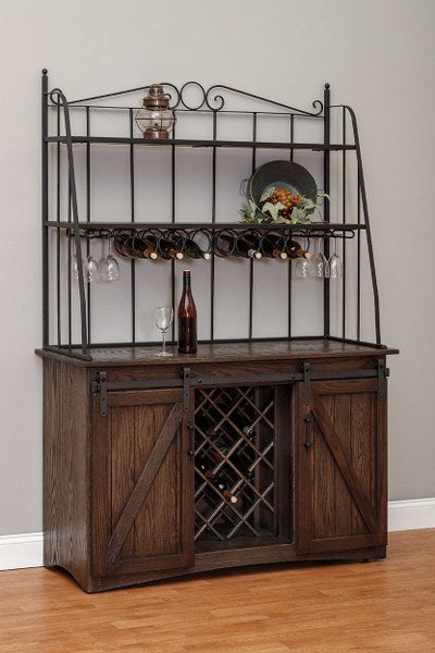 Barn Door Baker's Wine Cabinet (V10 #191)