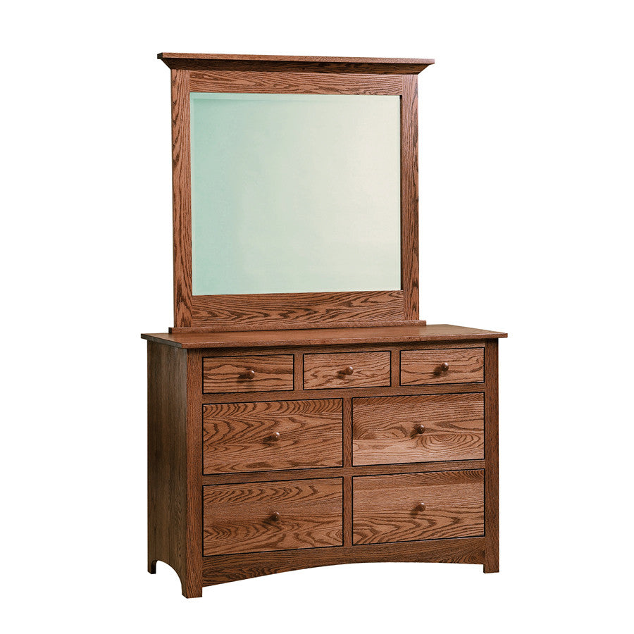 "Shaker 48"" Dresser with Mirror (V16 #202WK & #408)"