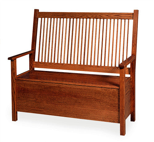 Mission Deacon's Bench with Storage (Elmwood #32)