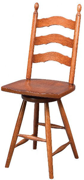 French Country Swivel Counter Stool (Zimmermans # 2423 & # 3023)