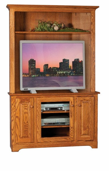 Corner TV Stand with Hutch Top (Mt Pleasant #245)