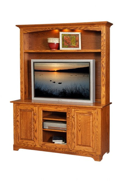 60 TV Cabinet with Hutch Top Mt Pleasant 261 Our Country Hearts