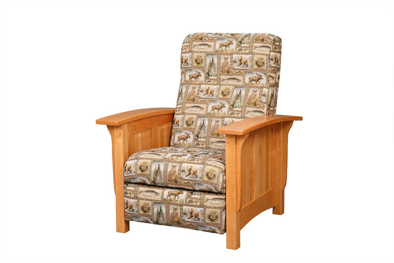 Mission Reclining Chair in Fabric with Panel Arms (Elmwood #261)