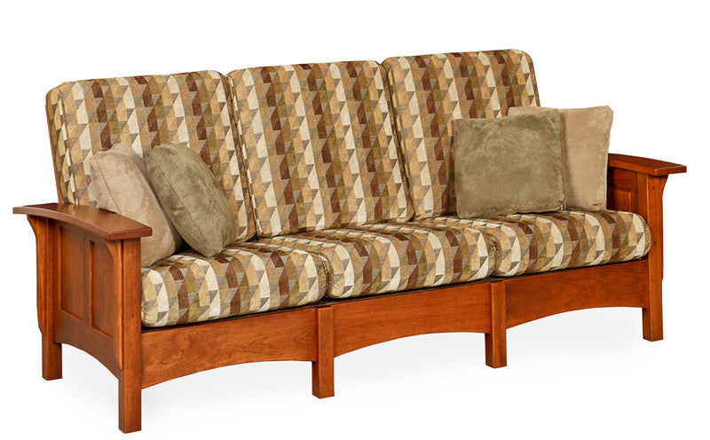 Mission Sofa in Fabric with Panel Arms (Elmwood #286)