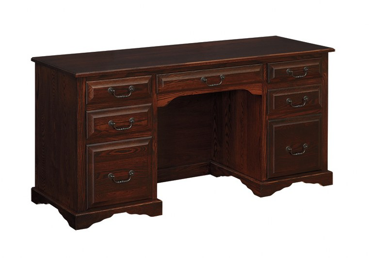 Flat Top Double Pedestal Desk (SFK #398)