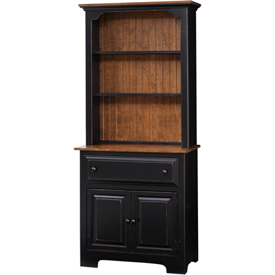 2-Door Hutch with Wood (Pine IE #308WO)