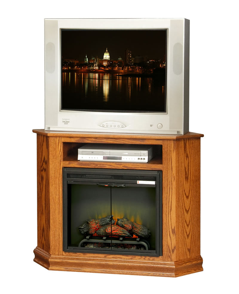 "Corner TV Stand with 23"" Fireplace (Mt Pleasant #403)"