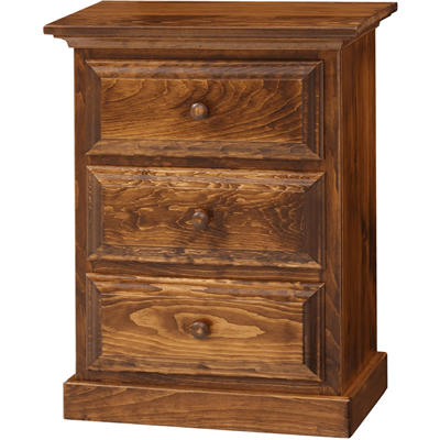 3-Drawer Nightstand (Pine IE #44)