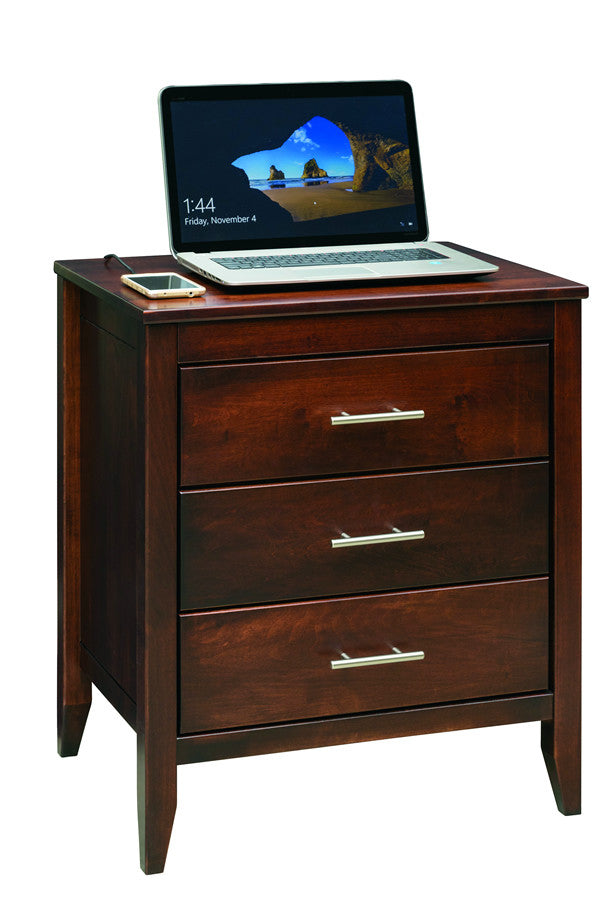 Manhattan 3-Drawer Nightstand (V16 #634)