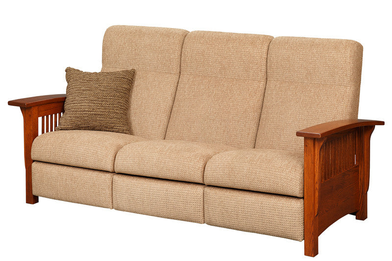 Mission Reclining Sofa in Fabric with Thin Slats (Elmwood #63)