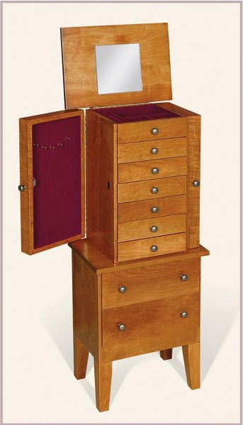 Mission Jewelry Armoire (Keepsake Collection #824)