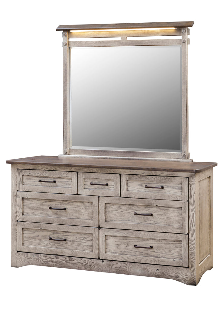 "Farmstead 63"" Dresser w/Mirror (V16 #761 & #768)"