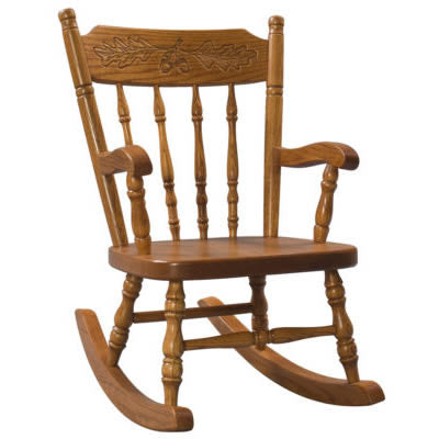 Child's Acornback Rocker  (Zimmermans LA Collection #82)