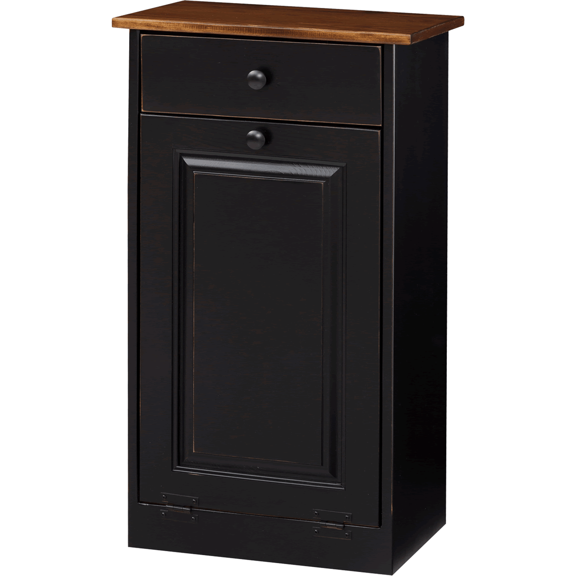 Trash Bin Cabinet with Wood (IE #82W)
