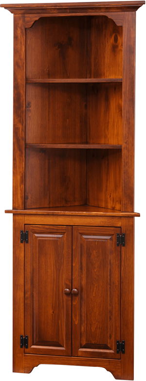 Medium Corner Cabinet Open (Pine IE #85)