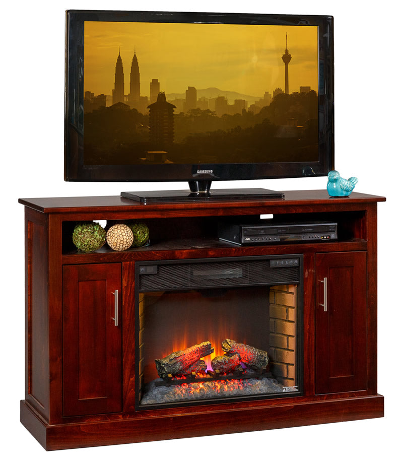 "TV Stand with 28"" Fireplace (Mt Pleasant #563)"