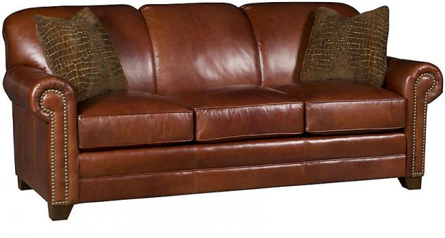 Annika Leather Sofa (King Hickory # 3800-L) - Our Country Hearts