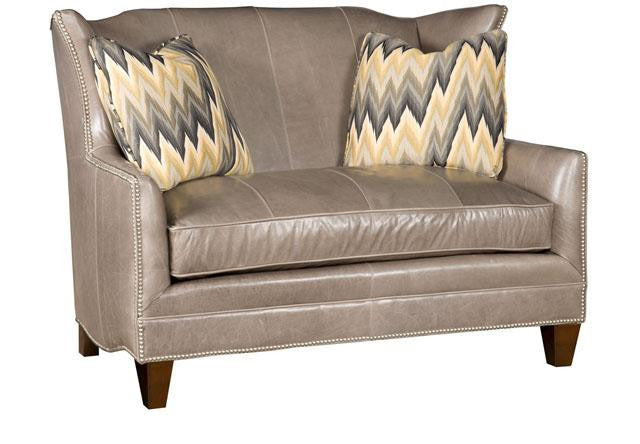 athens leather settee king hickory c1420l
