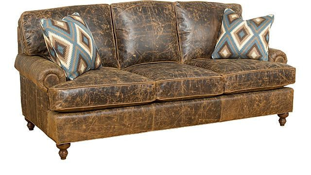Chatham Leather Sofa (King Hickory # 5900 PAT L)