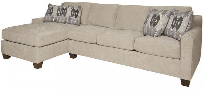 Darby Chaise Sectional Sofa (King Hickory #2282-JBW-F & #2253-JBW-F)