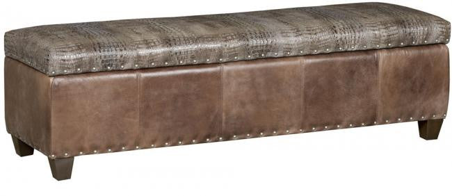 Depot Leather Storage Ottoman (King Hickory # STO-1860-L)