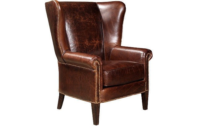 Sedgefield Leather Chair (King Hickory # 281-L)