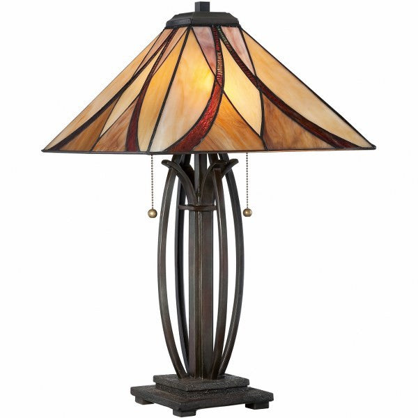Asheville Tiffany Table Lamp (Quoizel #TF1180TVA)