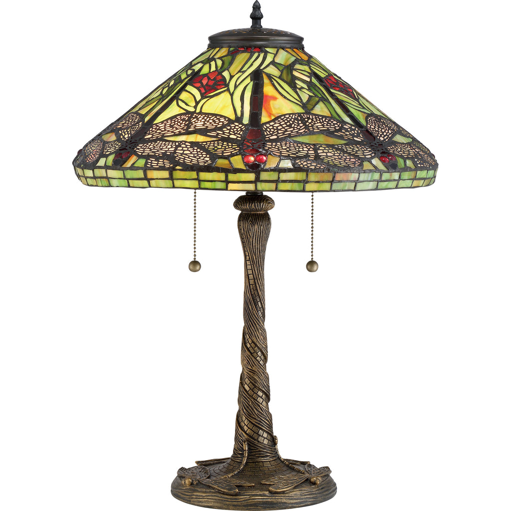 Jungle Dragonfly Table Lamp (Quoizel # TF2598)