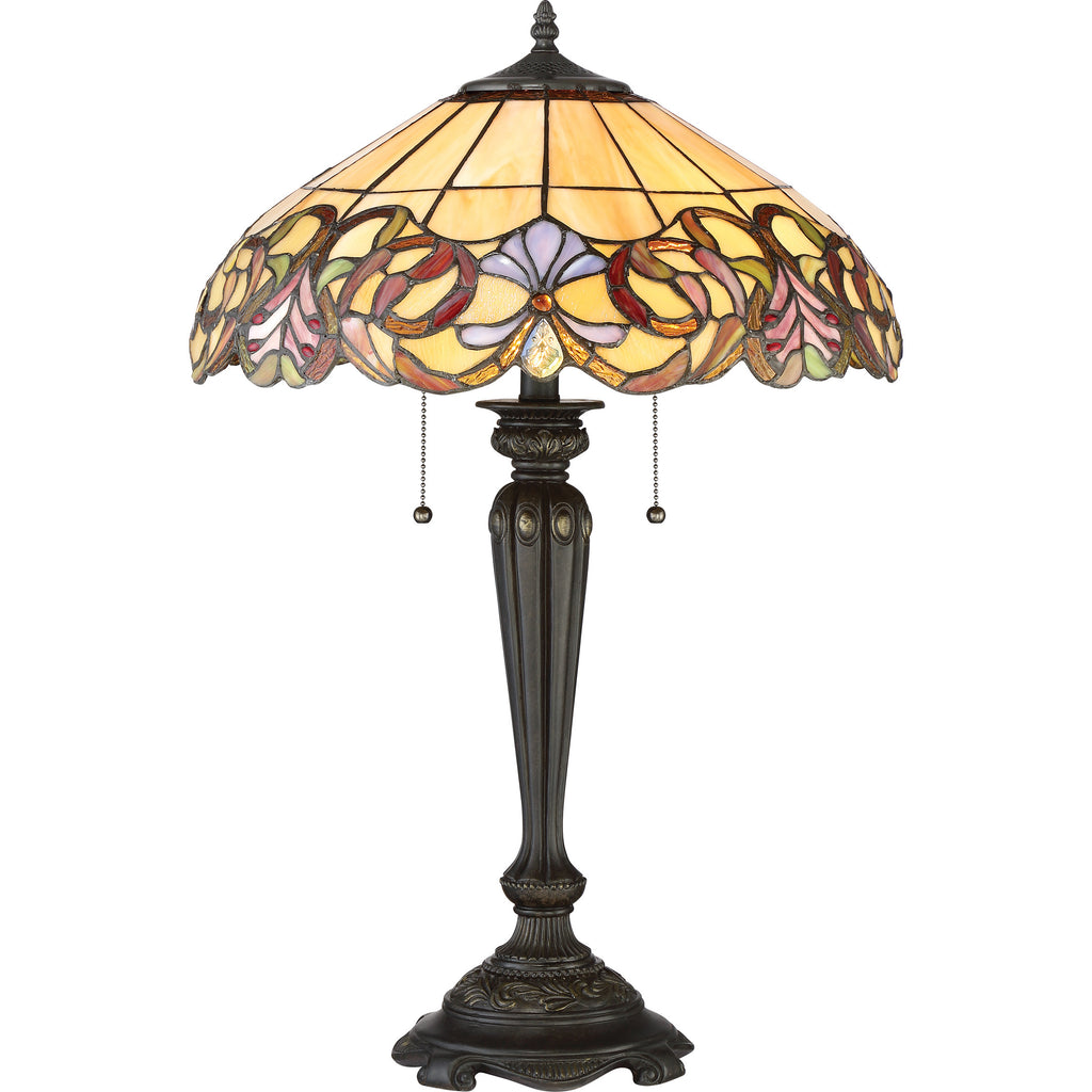 Blossom Tiffany Table Lamp (Quoizel # TF2802TIB)