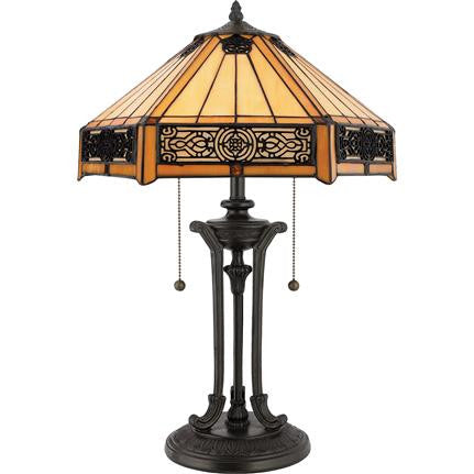 Indus Tiffany Table Lamp (Quoizel # TF6669VB)