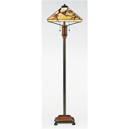 Grove Park Tiffany Floor Lamp (Quoizel # TF9404M)