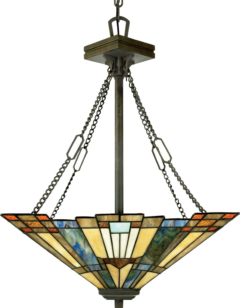 Inglenook Tiffany Ceiling Up Light (Quoizel TFIK2817VA)