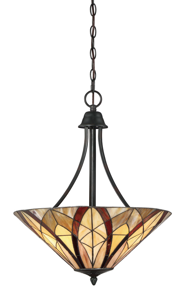 Victory Tiffany Ceiling Up Light (Quoizel # TFVY2819VA)