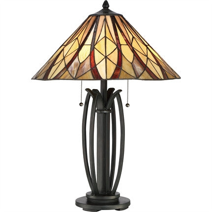 Victory High Tiffany Table Lamp (Quoizel # TFVY6325VA)