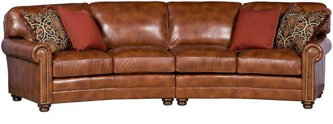 Winston Leather Angled Sectional (King Hickory # 7422-PAT-L & # 7423-PAT-L)