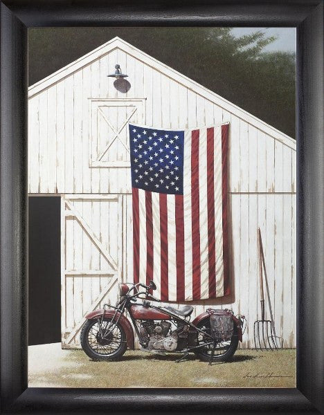 Barn with Motorcycle (Beechdale # 1824SB-Z273-4P)