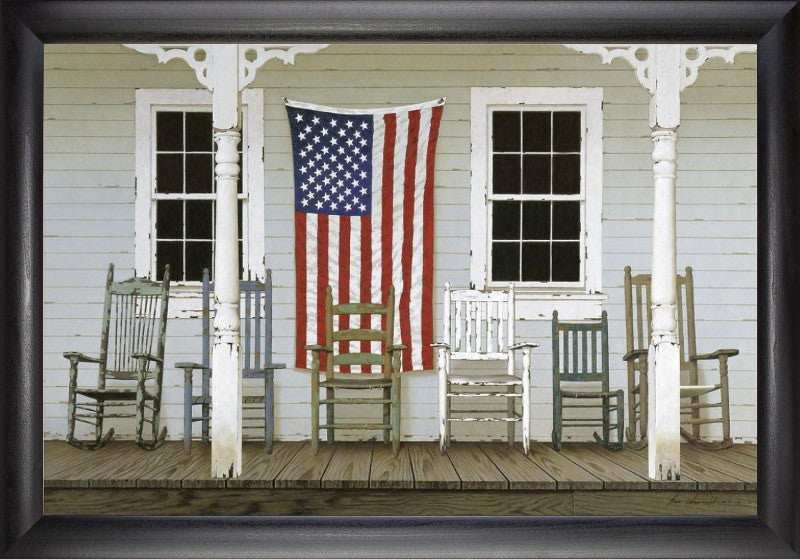 Chair Family with Flag (Beechdale # 2030SB-Z187r)