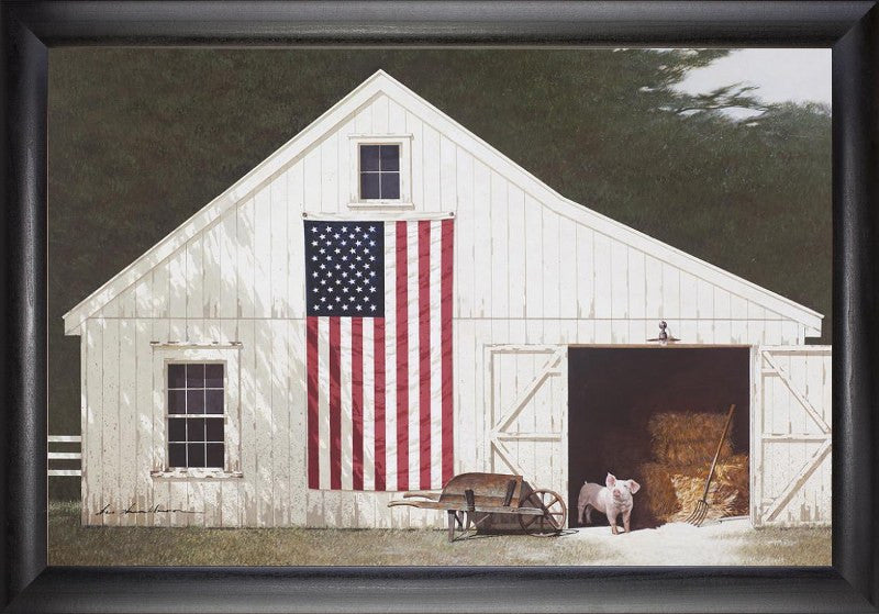 Barn with Piglet (Beechdale # 2030SB-Z274-5P)