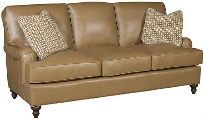 Chatham Leather Sofa (King Hickory # 5900-PAT-L)