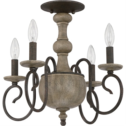Castile Semi Flush Mount Chandelier (Quoizel CS1718RK)