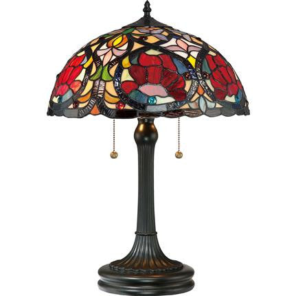 Larissa Tiffany Table Lamp (Quoizel TF879T)