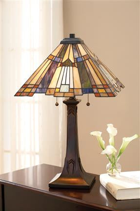 Inglenook Tiffany Table Lamp (Quoizel #TFT16191A1VA)