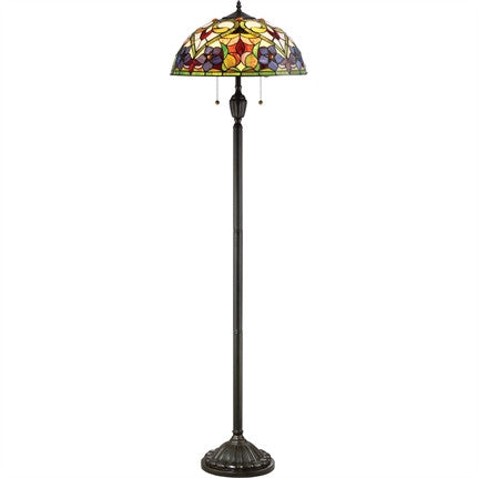 Violets Tiffany Floor Lamp (Quoizel # TFVT9362VB)