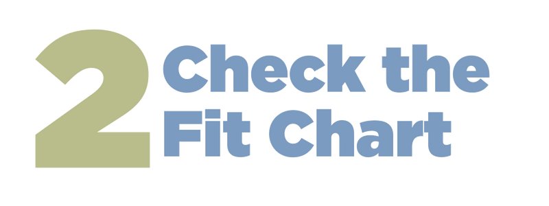 Step 2: Check the fit chart. The Fit chart will show which size Hugger (ie. Small, Medium, Large, XL, XXL, XXXL) you need for your inches measurement. Easy to measure, easy to size. Easy bra sizing. What is my bra size? Bra size guide.