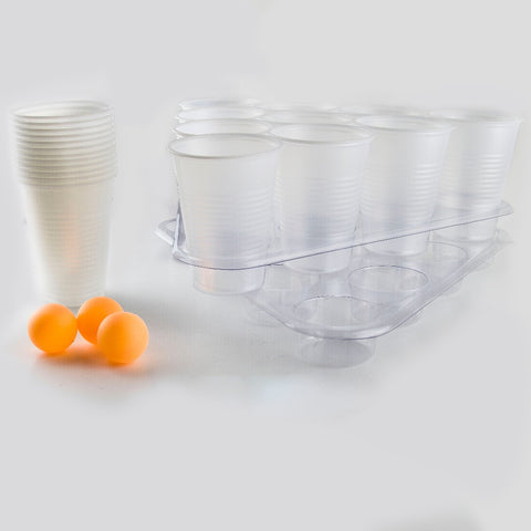 BEER PONG GAME, Includes 2 Racks, 3 Balls & 22 Cups