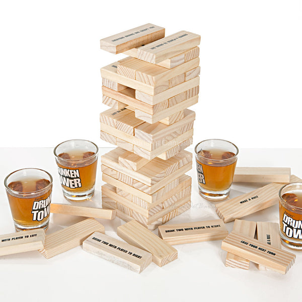 Drunken Tower Jenga Game