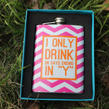 Colorful Stainless Steel 9 ounce Flask