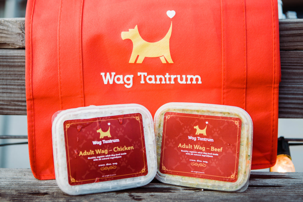 Wag Tantrum Organic Food For Pets Packaging